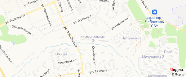 СТ Коммунальник на карте Шумерли с номерами домов