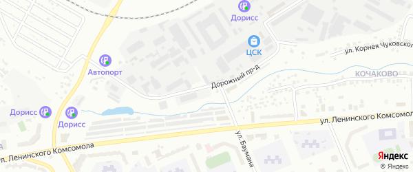 Дорожный проезд на карте Чебоксар с номерами домов