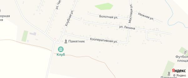 Кооперативная улица на карте деревни Оженары с номерами домов