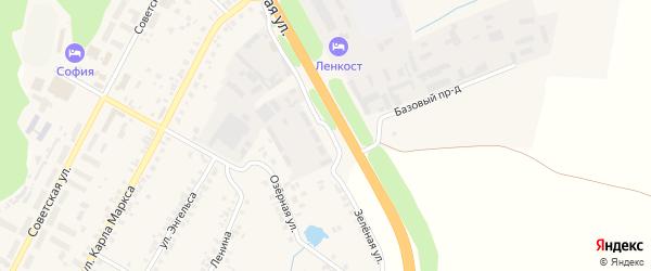Зеленая улица на карте поселка Кугеси с номерами домов