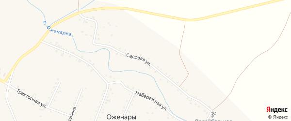 Садовая улица на карте деревни Оженары с номерами домов