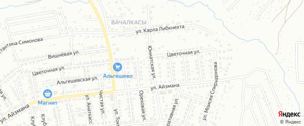 Юннатская улица на карте Чебоксар с номерами домов