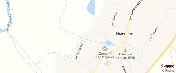 Улица Гагарина на карте села Именево с номерами домов