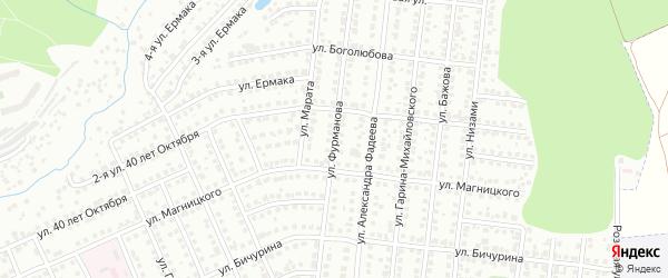 Улица Фурманова на карте Чебоксар с номерами домов
