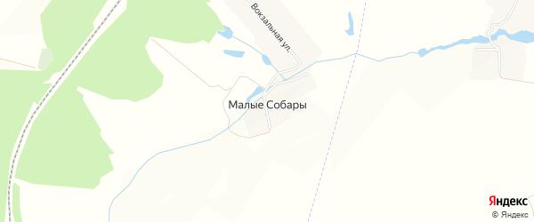 Карта деревни Малые Собары в Чувашии с улицами и номерами домов