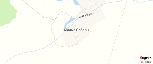 Луговая улица на карте деревни Малые Собары с номерами домов