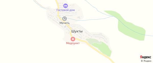 Улица Камбаймагомедовой на карте села Шуктов с номерами домов
