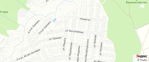 Улица Генерал-полковника Боголюбова на карте Чебоксар с номерами домов