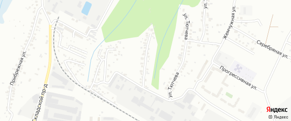 Улица К.Федина на карте Чебоксар с номерами домов