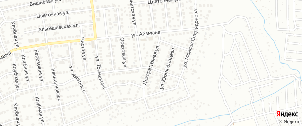 Декоративная улица на карте Чебоксар с номерами домов