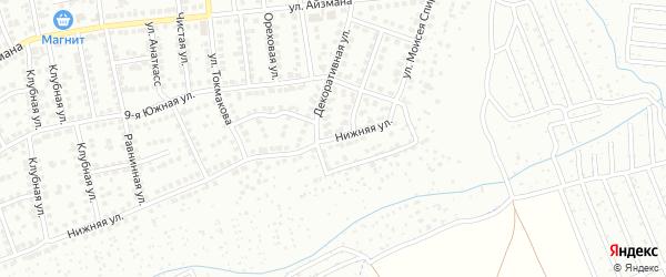 2-я Нижняя улица на карте Чебоксар с номерами домов