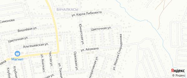 Улица Бориса Алексеева на карте Чебоксар с номерами домов