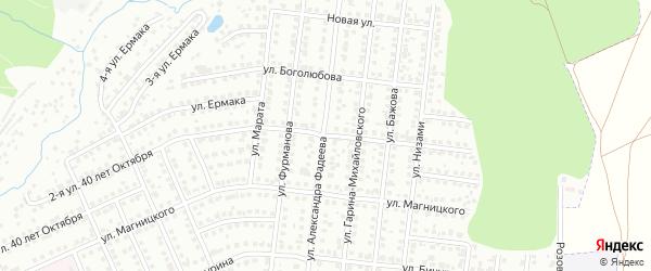 Улица Шота Руставели на карте Чебоксар с номерами домов