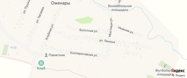 Улица Ленина на карте деревни Оженары с номерами домов