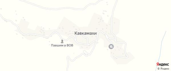Верхняя улица на карте села Кавкамахи с номерами домов