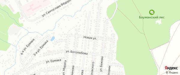Новая улица на карте Чебоксар с номерами домов