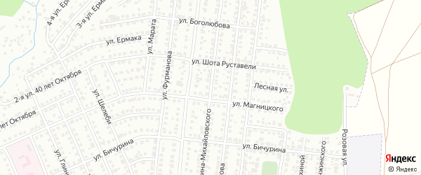 Улица Гарина-Михайловского на карте Чебоксар с номерами домов