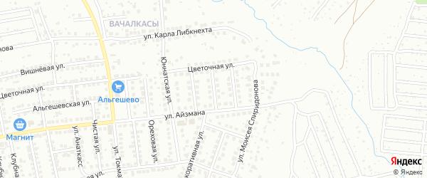 Улица Виктора Родионова на карте Чебоксар с номерами домов