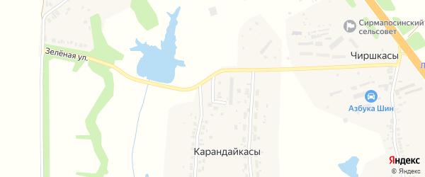 Новая улица на карте деревни Карандайкас с номерами домов