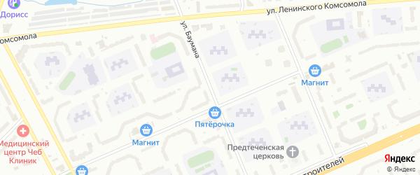 Улица Баумана на карте Чебоксар с номерами домов