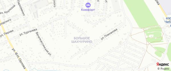 Шахчуринская улица на карте Чебоксар с номерами домов