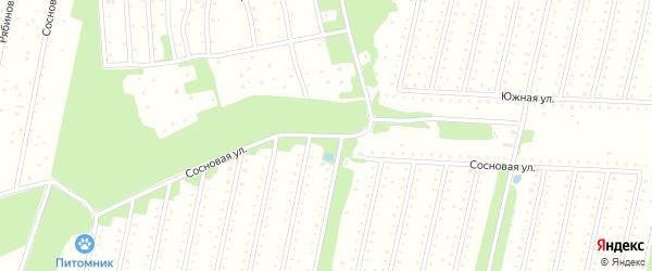 Сосновая улица на карте садового некоммерческого товарищества СОТА Железнодорожника-2 с номерами домов