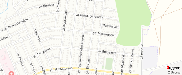 Улица Бажова на карте Чебоксар с номерами домов