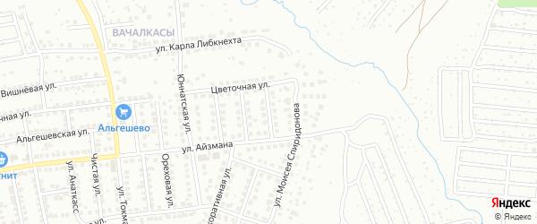 Улица Алексея Кокеля на карте Чебоксар с номерами домов