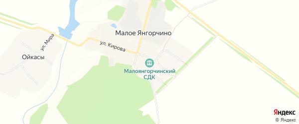 СТ Надежда на карте Малоянгорчинское сельского поселения с номерами домов