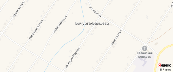 Улица Карла Маркса на карте села Бичурга-Баишево с номерами домов