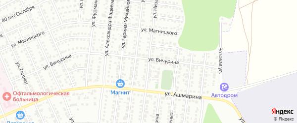 Улица Низами на карте Чебоксар с номерами домов