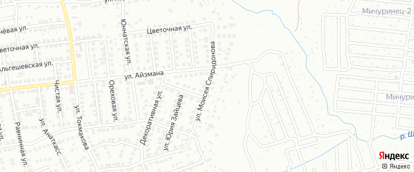 Улица Моисея Спиридонова на карте Чебоксар с номерами домов