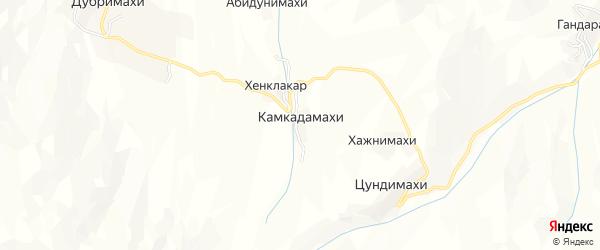 Карта хутора Камкадамахи в Дагестане с улицами и номерами домов