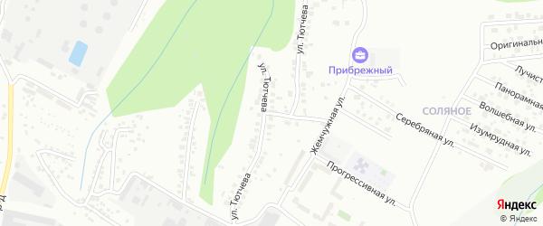 Улица Тютчева на карте Чебоксар с номерами домов