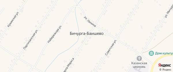 Крымская улица на карте села Бичурга-Баишево с номерами домов