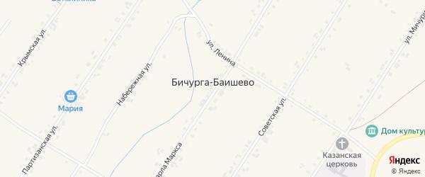 Набережная улица на карте села Бичурга-Баишево с номерами домов