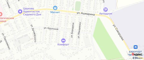 Улица Бородина на карте Чебоксар с номерами домов