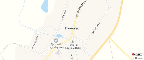 Новая улица на карте села Именево с номерами домов