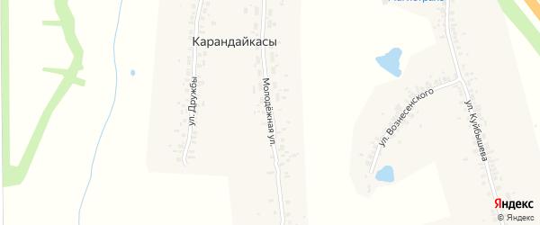Молодежная улица на карте деревни Чиршкасы (Чиршкасинского с/п) с номерами домов