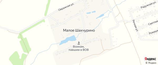 Лазурная улица на карте деревни Малое Шахчурино с номерами домов