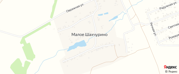 Луговая улица на карте деревни Малое Шахчурино с номерами домов