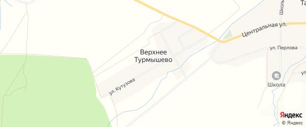 Карта деревни Верхнее Турмышево в Чувашии с улицами и номерами домов