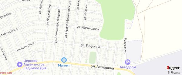 Улица Ушинского на карте Чебоксар с номерами домов