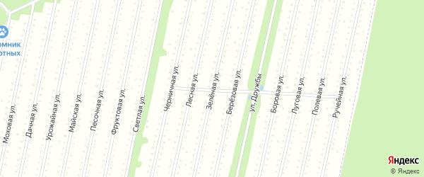Зеленая улица на карте поселка СОТА Силикатчика с номерами домов
