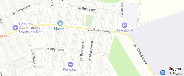 Улица Макаренко на карте Чебоксар с номерами домов