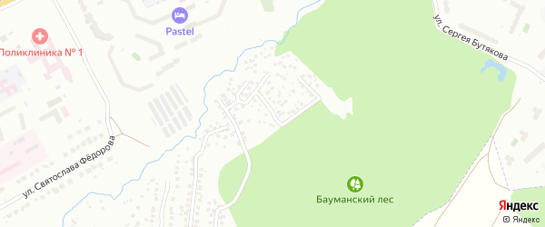 Улица 2-я Бажова на карте Чебоксар с номерами домов