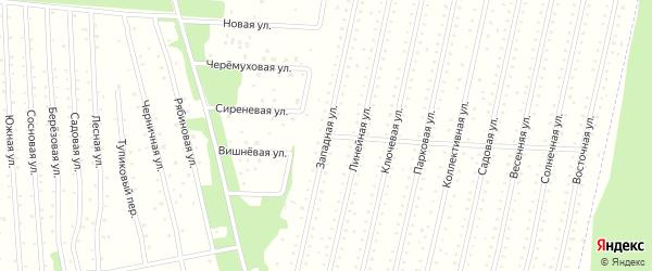 Западная улица на карте садового некоммерческого товарищества Садоводы Севера сад N6 Колос N2 с номерами домов
