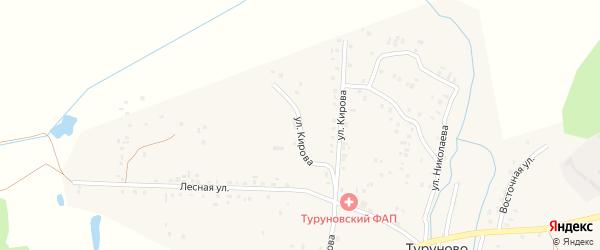 Улица Кирова на карте деревни Туруново с номерами домов