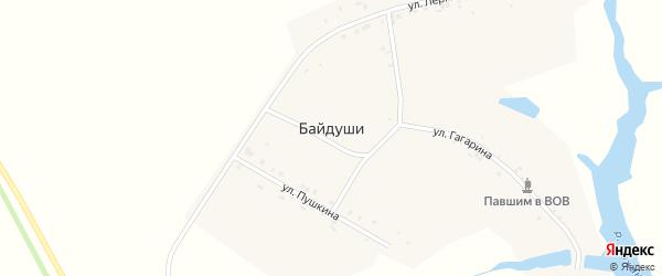 Улица Гагарина на карте деревни Байдуши с номерами домов