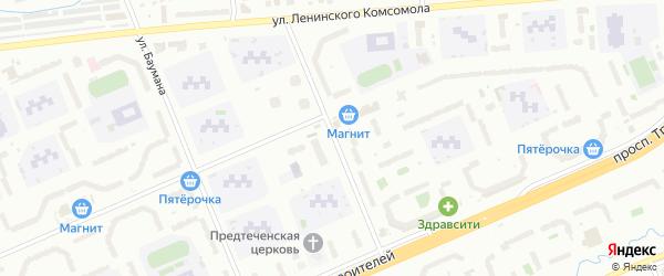 Улица Николая Гастелло на карте Чебоксар с номерами домов